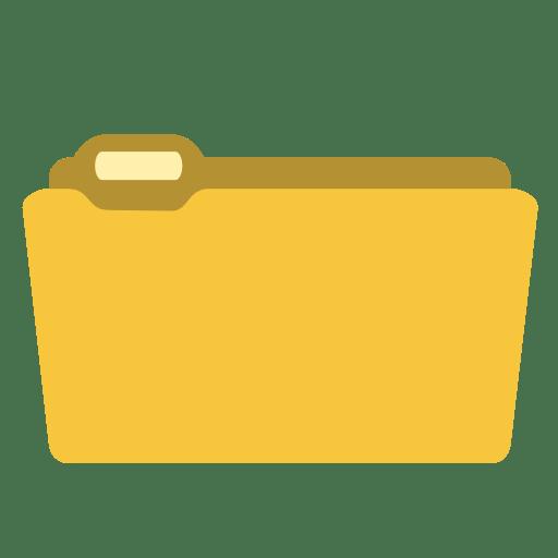 System folder yellow icon
