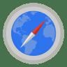 Internet-safari-with-map icon
