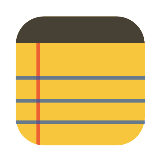 Utilities notepad icon
