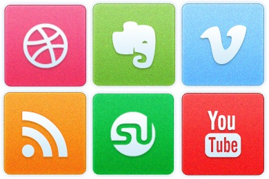 Clean Noise Social Icons