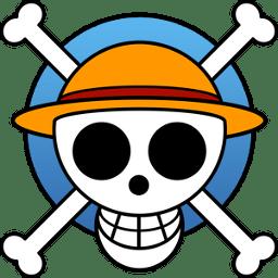 Luffys Flag Icon One Piece Manga Jolly Roger Iconset Crountch