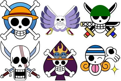 One Piece Manga Jolly Roger Icons