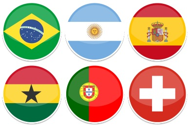 2014 World Cup Flags Icons
