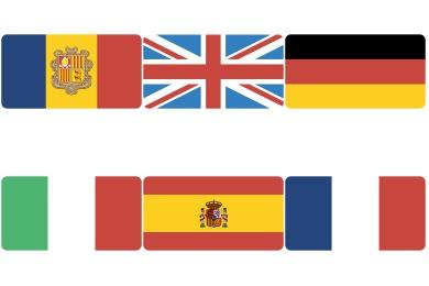 Flat Europe Flag Icons