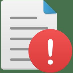 File warning icon