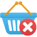 Shopping basket remove icon