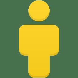 User yellow icon