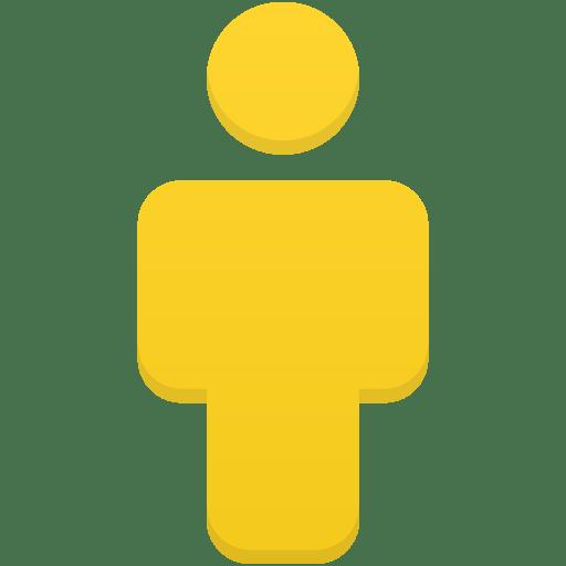 User-yellow icon