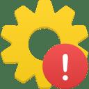 Process warning icon