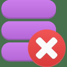 Data delete icon