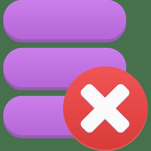 Data-delete icon