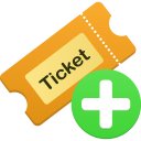 Ticket add icon