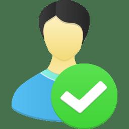 Male user accept icon