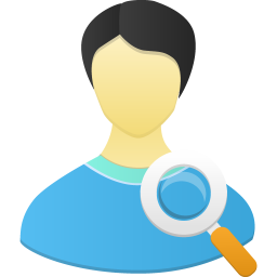 Male user search icon