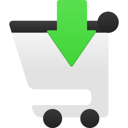Shopping cart insert icon