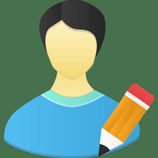 Male-user-edit icon