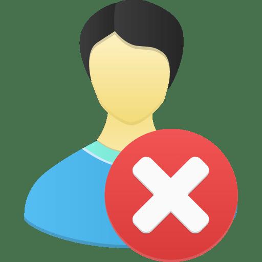 Male-user-remove icon