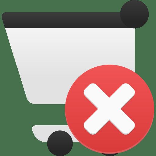 Shopping-cart-remove icon
