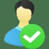 Male-user-accept icon