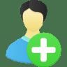 Male-user-add icon