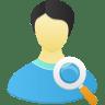 Male-user-search icon