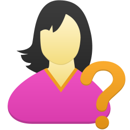 Female user help icon