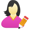 Female-user-edit icon
