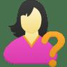 Female-user-help icon