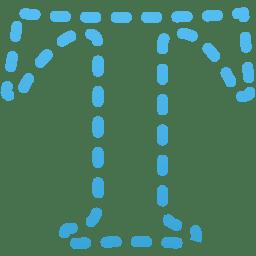 Horizontal type mask Tool icon