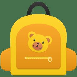 Schoolbag girl icon