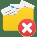 Open folder delete icon