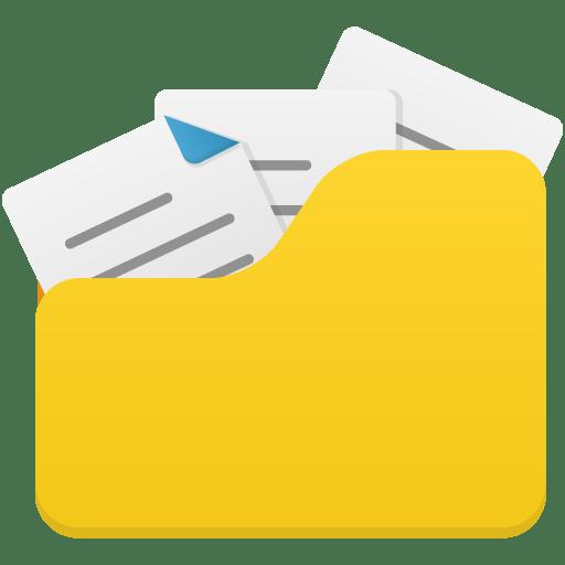 Open-folder-full icon