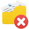 Open-folder-delete icon