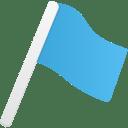 Flag1 blue icon