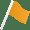 Flag1 orange icon