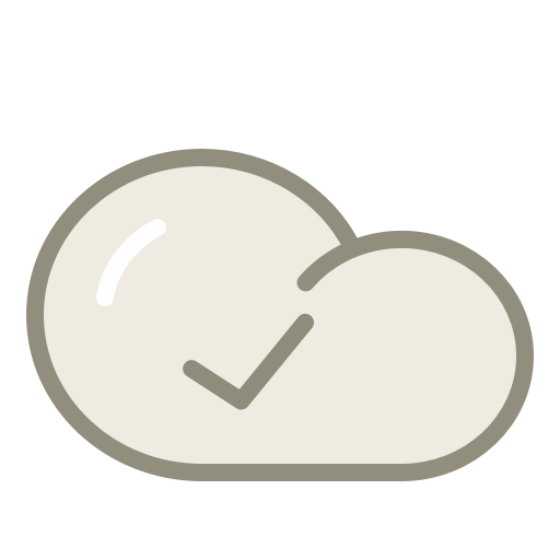 Cloud-check icon