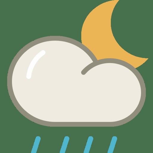 Lightshowers-night icon