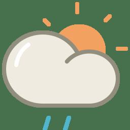 Drizzle day icon