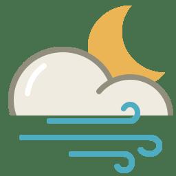 Wind night icon