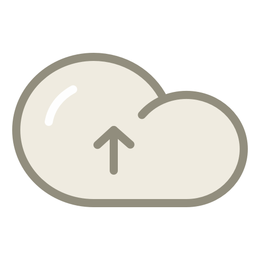 Cloud upload icon