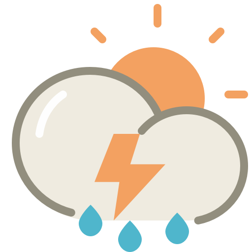 Thunderstorms-day icon