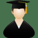 Graduate male icon