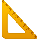 Triangle ruler icon
