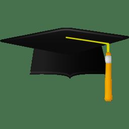 Graduate academic cap icon