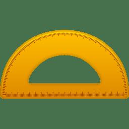 Semicircle ruler icon