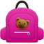 Schoolbag girl icon