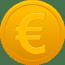 Coin euro icon