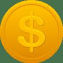 Coin us dollar icon