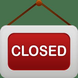 Shop closed icon