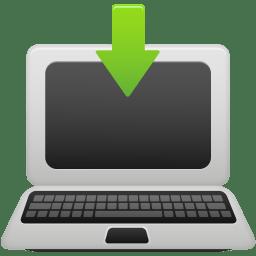 Laptop download icon